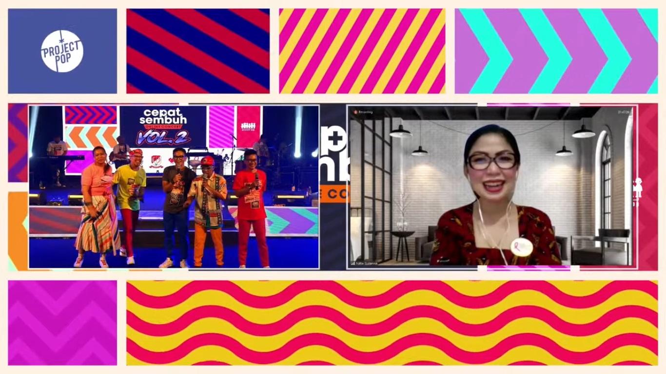 Project Pop Hibur Pasien dan Nakes lewat Konser Daring